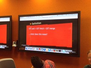 Slide on learning about Git version control