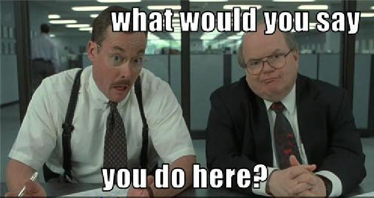 Office Space Meme: What would you say you do here?