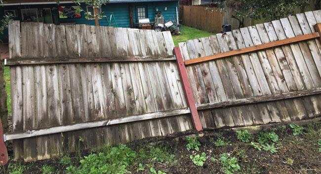 fence fallen down