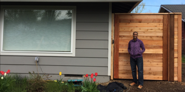 Kronda with new 7ft fence