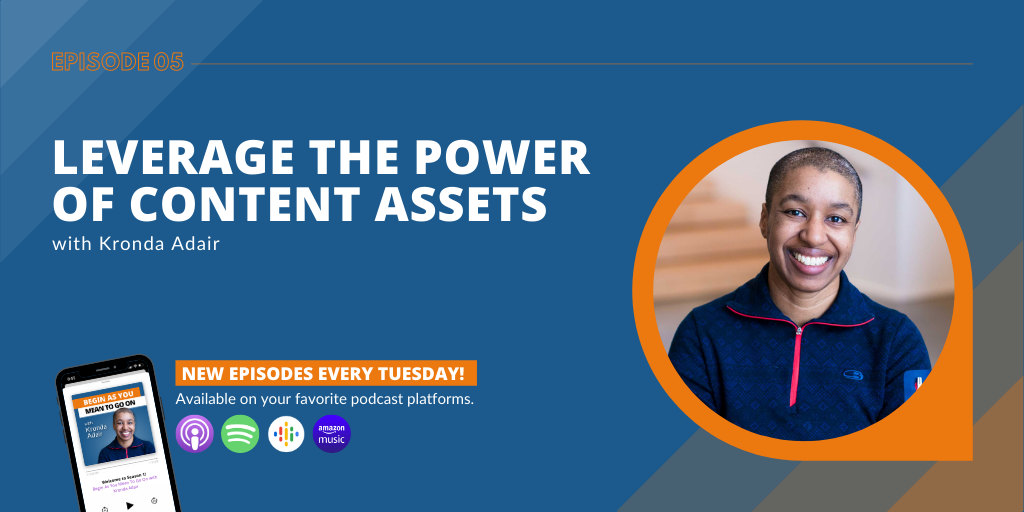 Leverage the Power of Content Assets with Kronda Adair